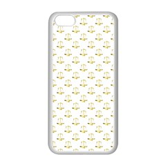 Gold Scales Of Justice On White Repeat Pattern All Over Print Apple Iphone 5c Seamless Case (white) by PodArtist