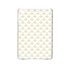 Gold Scales Of Justice On White Repeat Pattern All Over Print Ipad Mini 2 Hardshell Cases by PodArtist