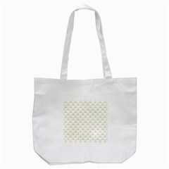 Gold Scales Of Justice On White Repeat Pattern All Over Print Tote Bag (white) by PodArtist