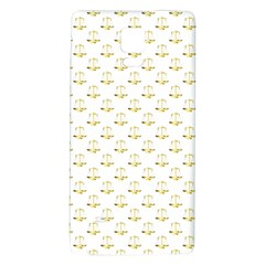 Gold Scales Of Justice On White Repeat Pattern All Over Print Galaxy Note 4 Back Case by PodArtist