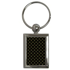 Gold Scales Of Justice On Black Repeat Pattern All Over Print  Key Chains (rectangle)  by PodArtist