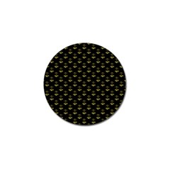 Gold Scales Of Justice On Black Repeat Pattern All Over Print  Golf Ball Marker (4 Pack) by PodArtist