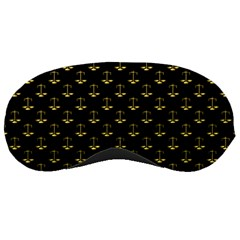 Gold Scales Of Justice On Black Repeat Pattern All Over Print  Sleeping Masks by PodArtist