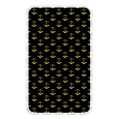 Gold Scales Of Justice On Black Repeat Pattern All Over Print  Memory Card Reader by PodArtist