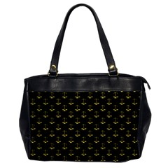 Gold Scales Of Justice On Black Repeat Pattern All Over Print  Office Handbags by PodArtist