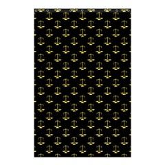 Gold Scales Of Justice On Black Repeat Pattern All Over Print  Shower Curtain 48  X 72  (small)  by PodArtist