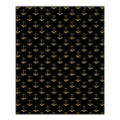 Gold Scales Of Justice On Black Repeat Pattern All Over Print  Shower Curtain 60  X 72  (medium)  by PodArtist