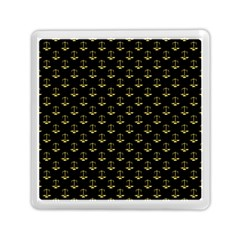 Gold Scales Of Justice On Black Repeat Pattern All Over Print  Memory Card Reader (square)  by PodArtist