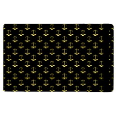 Gold Scales Of Justice On Black Repeat Pattern All Over Print  Apple Ipad 3/4 Flip Case by PodArtist