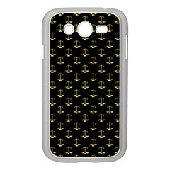 Gold Scales Of Justice On Black Repeat Pattern All Over Print  Samsung Galaxy Grand Duos I9082 Case (white) by PodArtist