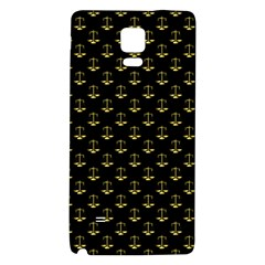 Gold Scales Of Justice On Black Repeat Pattern All Over Print  Galaxy Note 4 Back Case by PodArtist