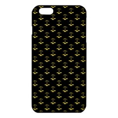 Gold Scales Of Justice On Black Repeat Pattern All Over Print  Iphone 6 Plus/6s Plus Tpu Case by PodArtist