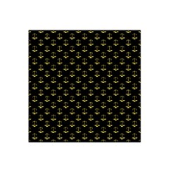 Gold Scales Of Justice On Black Repeat Pattern All Over Print  Satin Bandana Scarf by PodArtist