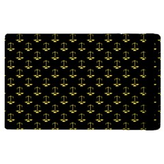 Gold Scales Of Justice On Black Repeat Pattern All Over Print  Apple Ipad Pro 12 9   Flip Case by PodArtist