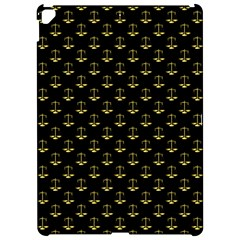 Gold Scales Of Justice On Black Repeat Pattern All Over Print  Apple Ipad Pro 12 9   Hardshell Case by PodArtist