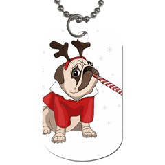 Pug Xmas Dog Tag (two Sides)