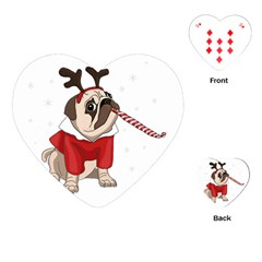 Pug Xmas Playing Cards (heart)