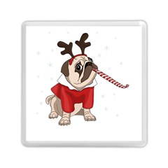Pug Xmas Memory Card Reader (square)  by Valentinaart