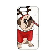 Pug Xmas Apple Iphone 5 Classic Hardshell Case (pc+silicone) by Valentinaart