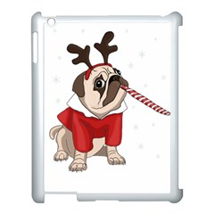 Pug Xmas Apple Ipad 3/4 Case (white) by Valentinaart
