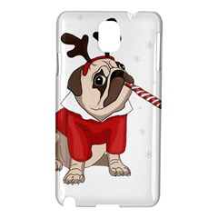 Pug Xmas Samsung Galaxy Note 3 N9005 Hardshell Case by Valentinaart