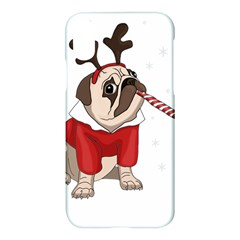 Pug Xmas Apple Iphone X Hardshell Case
