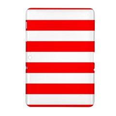 Christmas Red And White Cabana Stripes Samsung Galaxy Tab 2 (10 1 ) P5100 Hardshell Case  by PodArtist