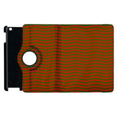 Christmas Red And Green Chevron Zig Zag Stripes Apple Ipad 3/4 Flip 360 Case by PodArtist