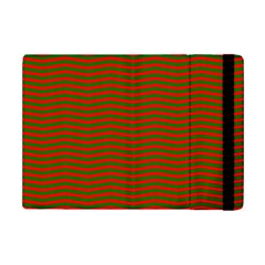 Christmas Red And Green Chevron Zig Zag Stripes Ipad Mini 2 Flip Cases by PodArtist
