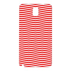 Christmas Red And White Chevron Stripes Samsung Galaxy Note 3 N9005 Hardshell Back Case by PodArtist