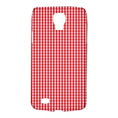 Small Snow White And Christmas Red Gingham Check Plaid Galaxy S4 Active by PodArtist