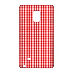 Small Snow White And Christmas Red Gingham Check Plaid Galaxy Note Edge by PodArtist