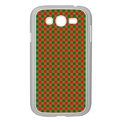 Large Red And Green Christmas Gingham Check Tartan Plaid Samsung Galaxy Grand Duos I9082 Case (white) by PodArtist