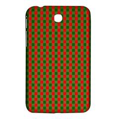 Large Red And Green Christmas Gingham Check Tartan Plaid Samsung Galaxy Tab 3 (7 ) P3200 Hardshell Case  by PodArtist
