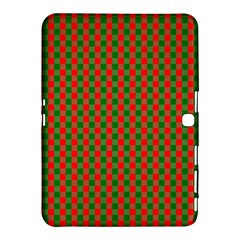 Large Red And Green Christmas Gingham Check Tartan Plaid Samsung Galaxy Tab 4 (10 1 ) Hardshell Case  by PodArtist
