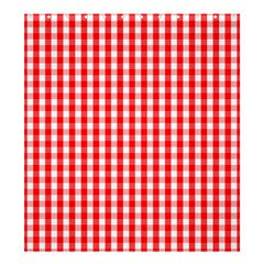 Large Christmas Red And White Gingham Check Plaid Shower Curtain 66  X 72  (large)  by PodArtist