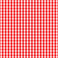 Large Christmas Red And White Gingham Check Plaid Magic Photo Cubes by PodArtist