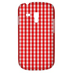 Large Christmas Red And White Gingham Check Plaid Galaxy S3 Mini by PodArtist