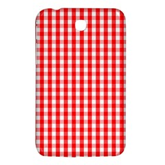 Large Christmas Red And White Gingham Check Plaid Samsung Galaxy Tab 3 (7 ) P3200 Hardshell Case  by PodArtist