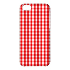 Large Christmas Red And White Gingham Check Plaid Apple Iphone 5c Hardshell Case by PodArtist