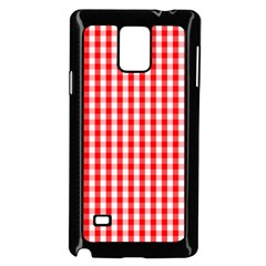 Large Christmas Red And White Gingham Check Plaid Samsung Galaxy Note 4 Case (black) by PodArtist
