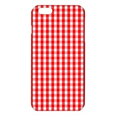 Large Christmas Red And White Gingham Check Plaid Iphone 6 Plus/6s Plus Tpu Case by PodArtist