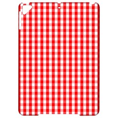 Large Christmas Red And White Gingham Check Plaid Apple Ipad Pro 9 7   Hardshell Case