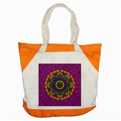 Mandala In Heavy Metal Lace And Forks Accent Tote Bag by pepitasart