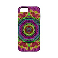 Mandala In Heavy Metal Lace And Forks Apple Iphone 5 Classic Hardshell Case (pc+silicone) by pepitasart