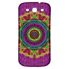 Mandala In Heavy Metal Lace And Forks Samsung Galaxy S3 S Iii Classic Hardshell Back Case by pepitasart