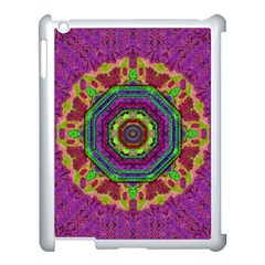Mandala In Heavy Metal Lace And Forks Apple Ipad 3/4 Case (white) by pepitasart