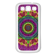 Mandala In Heavy Metal Lace And Forks Samsung Galaxy S3 Back Case (white) by pepitasart
