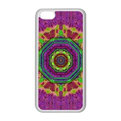Mandala In Heavy Metal Lace And Forks Apple Iphone 5c Seamless Case (white) by pepitasart