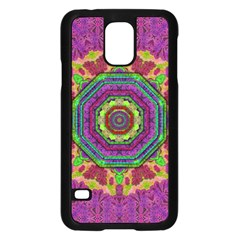 Mandala In Heavy Metal Lace And Forks Samsung Galaxy S5 Case (black) by pepitasart